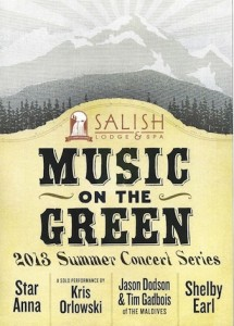 Salish Music on the Green poster