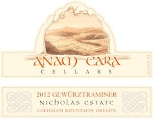 Anam Cara Cellars 2012 Nicholas Estate Gewurztraminer