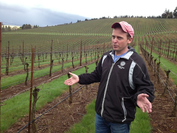 Greg Fries conducts a media tour of his family's Willamette Valley plantings in the South Salem Hills.