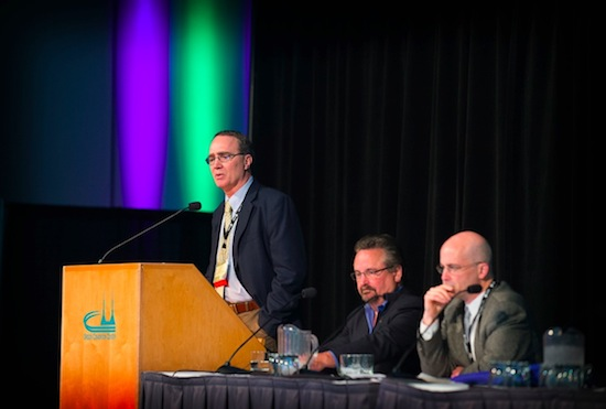 Greg Jones, University of Southern Oregon professor, shares his climate research with the 2013 Oregon Wine Industry Symposium in Portland.