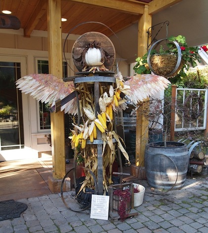 Olympic Peninsula wineries scarecrow