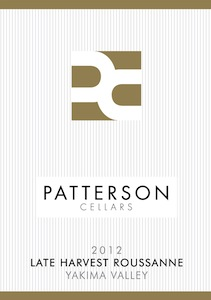 Patterson Cellars 2012 Late Harvest Roussanne