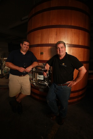 Scott Kelley, left, and Dyson DeMara have launched Paul O'Brien Winery in Roseburg, Ore.