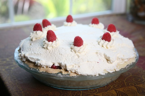 This raspberry pie is from Westport Winery's bakery.