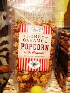 The Salish Lodge & Spa Honey Caramel Popcorn is made using estate wine.