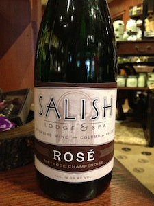 The Salish Lodge and Resort Sparkling Rose is made by Treveri Cellars in Wapato, Wash.