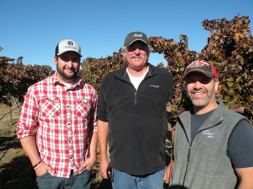 Sean Tudord, Tom Tudor and Robert Smasne will launch Tudor Hills Winery in Grandview, Washington.