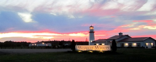 Westport Winery is near Aberdeen, Washington.