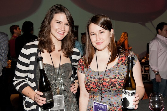 Laura Rankin, left, tasting room manager at Gilbert Cellars in Yakima, and Jordan Merfeld of Triple Door in Seattle help introduce Washington wines to fellow millennials at 20something – The New Vintage.