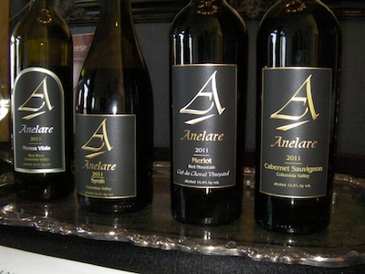 Charlie Hoppes of Fidelitas Wines serves as the winemaker for Anelare Winery in nearby Kiona, Wash.