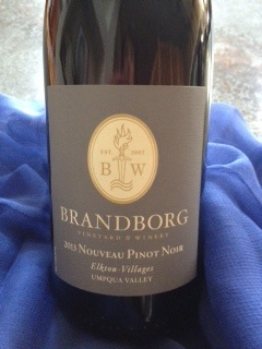 Brandborg Vineyard & Winery in Elkton, Ore., has bottled a 2013 Elkton-Villages Nouveau Pinot Noir during the Umpqua Valley AVA.