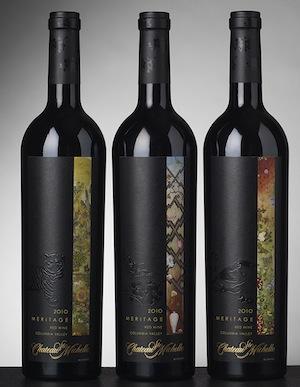 chateau-ste michelle-artist-series- meritage-2010-bottles