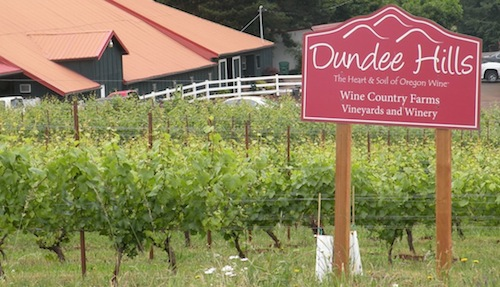 Dundee Hills American Viticultural Area is in the northern Willamette Valley in Oregon wine country.