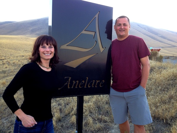 Kahryn and Forrest Alexander will open a permanent tasting room next year for Anelare Winery in Kiona, Wash., near Red Mountain.