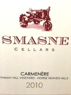 smasne-cellars-2010-carmenere-label