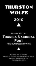 Thurston Wolfe 2010 Touriga Nacional Port