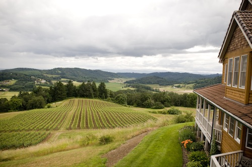 Youngberg Hill winery and inn is near McMinnville, Oregon