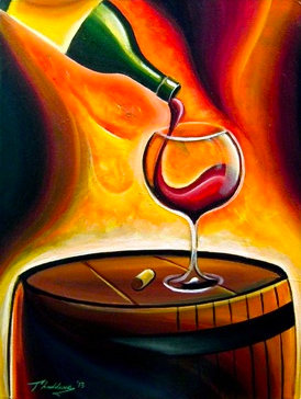 Bottle and Bottega class at Winter's Hill Winery