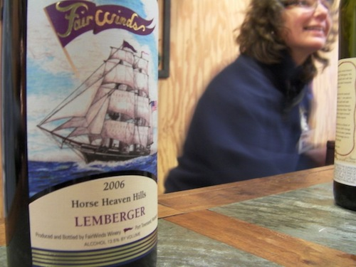 FairWinds Winery in Port Townsend, Washington, makes Lemberger.