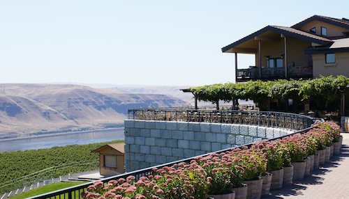 Maryhill Winery near Goldendale, Washington, provides some of the most dramatic views in the Pacific Northwest.