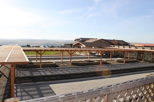 Maryhill Winery provides bocce courts for visitor use in Goldendale, Washington.