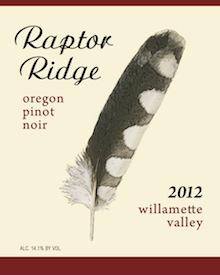 raptor-ridge-pinot-noir-oregon-2012-label