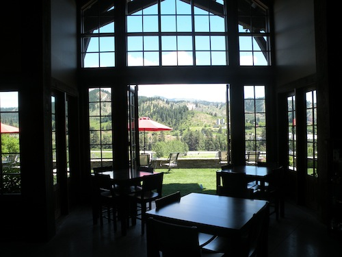 Silvara Vineyards tasting room near Peshastin, Wash., overlooks the Wenatchee River valley.