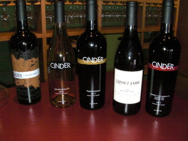 Cinder Wines are poured at the 44th Street Wineries tasting room in Garden City, Idaho.