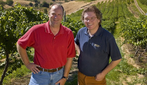 Bob Bertheau and Ernst Loosen oversee production of Eroica Riesling.