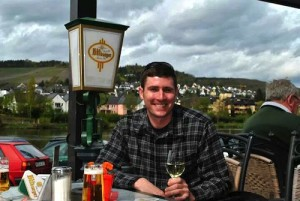 Marcus Rafanelli drinks Riesling in Germany's Mosel Valley.