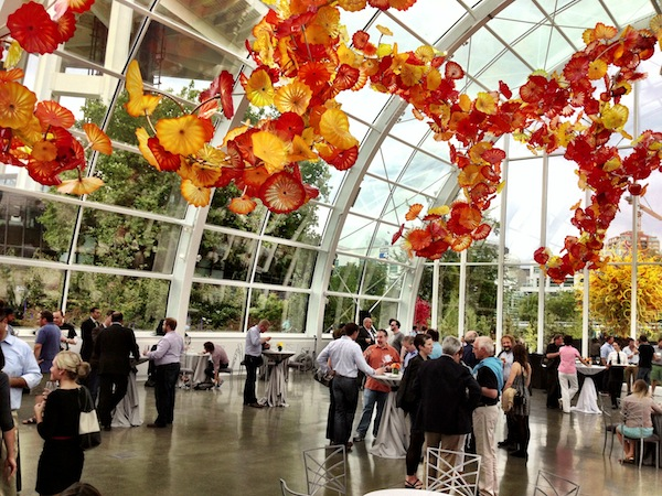 The Chihuly Garden and Glasshoue played host to the closing event of the Chateau Ste. Michelle's 2013 Riesling Rendezvous.