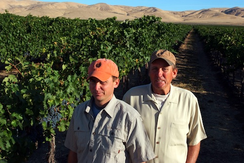Doug Fries and his son Greg run Desert Wind Vineyard for Desert Wind Winery on Washington state's Wahluke Slope.