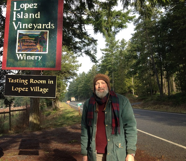 Brent Charnley founded his 6 acres of vineyard in the northwest corner of Lopez Island along Fisherman Bay Road. His tasting room is a short drive to the south in Lopez Village. (Photo by Eric Degerman/Great Northwest Wine)