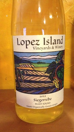 The Lopez Island Vineyards & Winery 2012 Estate Siegerrebe ($25) from the Puget Sound received a Double Platinum in last fall's Wine Press Northwest Platinum Judging. Siegerrebe is a German variety developed from Gewürztraminer and Madeleine Angevine.