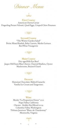 state-dinner-menu