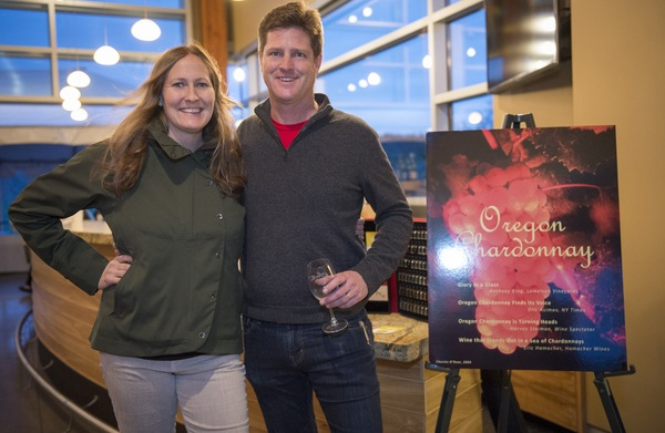 Erica Landon of Walter Scott Wines and Paul Durant of Durant Family Vineyards staged the third annual Oregon Chardonnay Symposium on March 8, 2014 at Stoller Family Estate in Dayton.