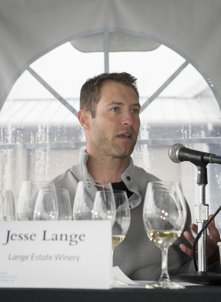 Jesse Lange of Lange Estate Winery gives his presentation during the technical panel at the third annual Oregon Chardonnay Symposium on March 8, 2014 in Dayton.