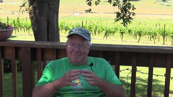 John Bradley of Bradley Vineyards in Elkton, Ore., sits down for a 2013 interview with Linfield College archivist Rachael Cristine Woody. The McMinnville historian spotlighted Bradley as part of the Oregon Wine History Archive.