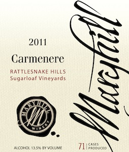 Maryhill Winery 2011 Carmenere