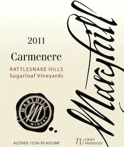 Maryhill Winery 2011 Carmenere