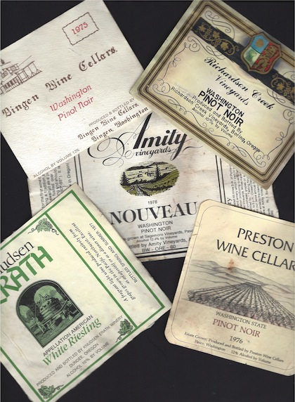 pacific northwest historic wine labels feature great northwest wine