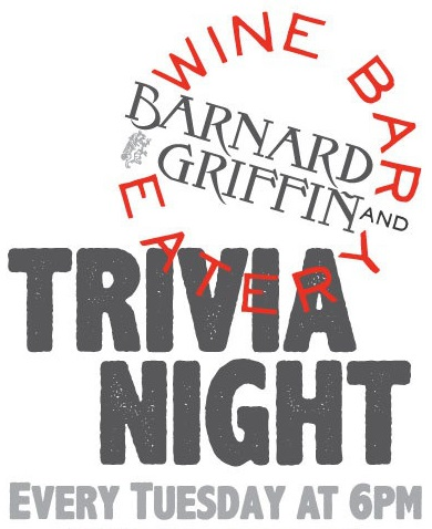 Barnard Griffin Wine Bar and Eatery Trivia Night poster