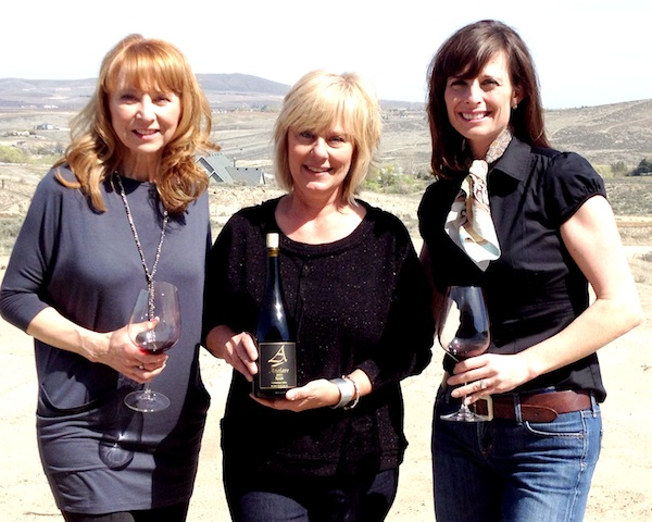 Anelare Winery in Kiona, Wash., will open its tasting room this summer. General manager Kim Gravenslund, center, will be working for Cindy Campbell, left, and managing partner Kahryn Alexander, right.