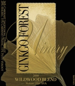 ginkgo-forest-winery-wildwood-blend-2009-label