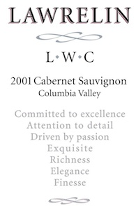 lawrelin-wine-co-cabernet-sauvignon-2001-label