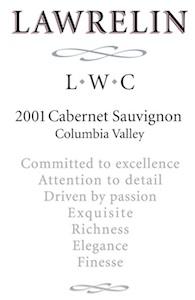 lawrelin-wine-co-cabernet-sauvignon-2001-label
