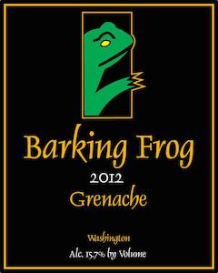 Barking Frog Winery 2012 Grenache