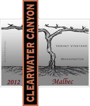 clearwater-canyon-cellars-verhey-vineyard-malbec-2012-label