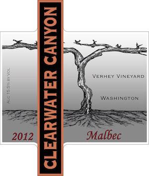 clearwater-canyon-cellars-verhey-vineyard-malbec-2012-label