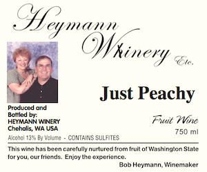 heymann winery just peachy label - Heymann Whinery NV Just Peachy Wine, Washington, $17